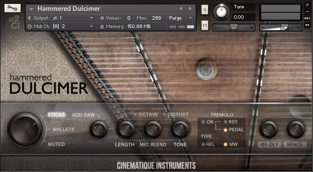 Cinematique Instruments Hammered Dulcimer KONTAKT 170602